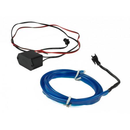 Światłowód Ambient Led niebieski 1 metr + przetwornica 12V + wtyk zapalniczki