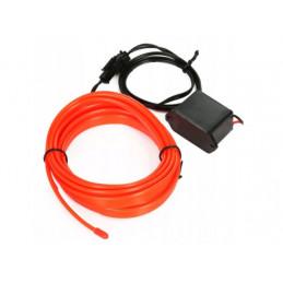 Światłowód Ambient Led czerwony 1 metr + przetwornica 12V + wtyk zapalniczki