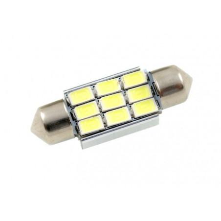 Żarówka LED 9 SMD 5630 C5W C10W CAN BUS 36 mm