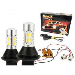 Światła LED dzienne + Kierunkowskazy DRL PY21W 2w1