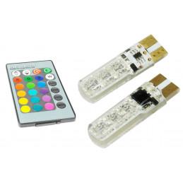 Żarówki  LED  W5W T10 RGB...