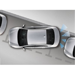 Samochodowe czujniki parkowania z wyświetlaczem (tył) Peiying – czarne
