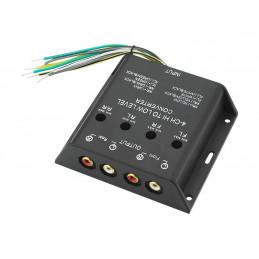 Konwerter poziomu sygnału audio 4 kanały
